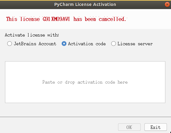 Pycharm 提示:this license **** has been cancelled